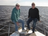 Peter Harries and Rod on Peter's boat Mandurah 2011